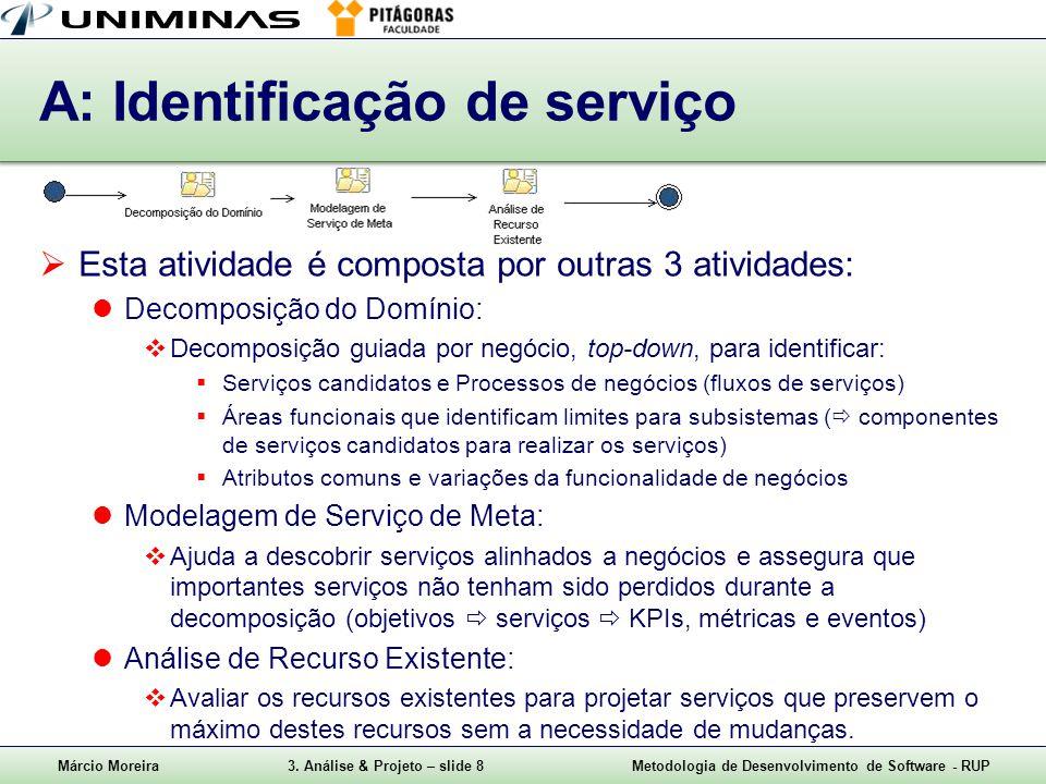 A: Identificação de serviço