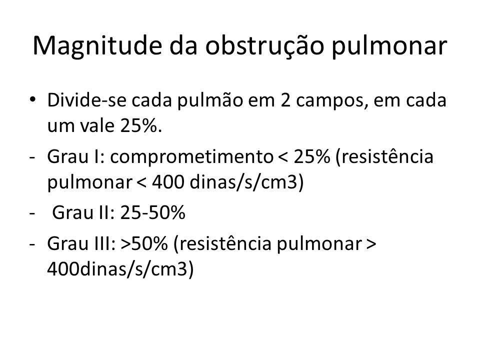Magnitude da obstrução pulmonar