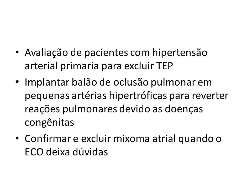 Avaliação de pacientes com hipertensão arterial primaria para excluir TEP