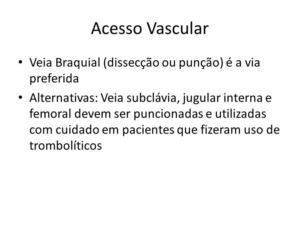 Acesso Vascular Veia Braquial (dissecção ou punção) é a via preferida