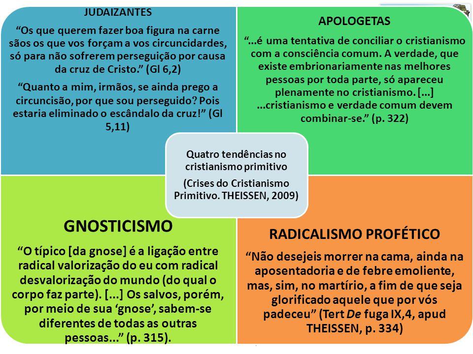 GNOSTICISMO RADICALISMO PROFÉTICO APOLOGETAS