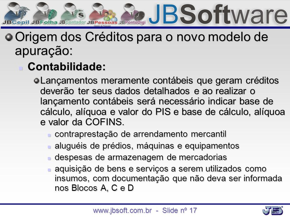 www.jbsoft.com.br - Slide nº 17