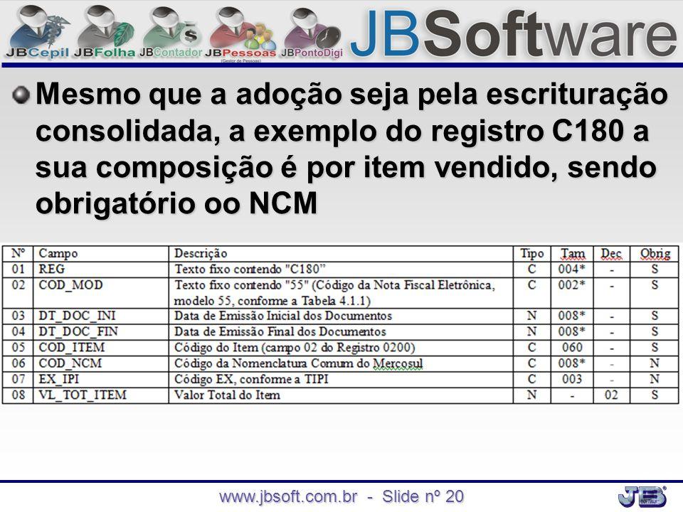 www.jbsoft.com.br - Slide nº 20
