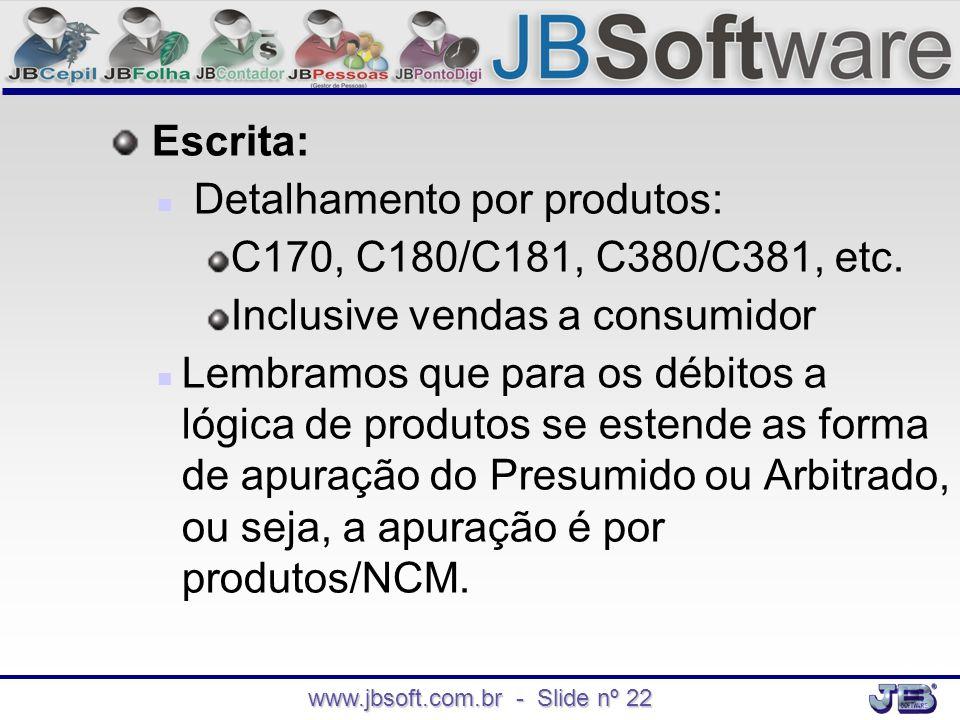 www.jbsoft.com.br - Slide nº 22