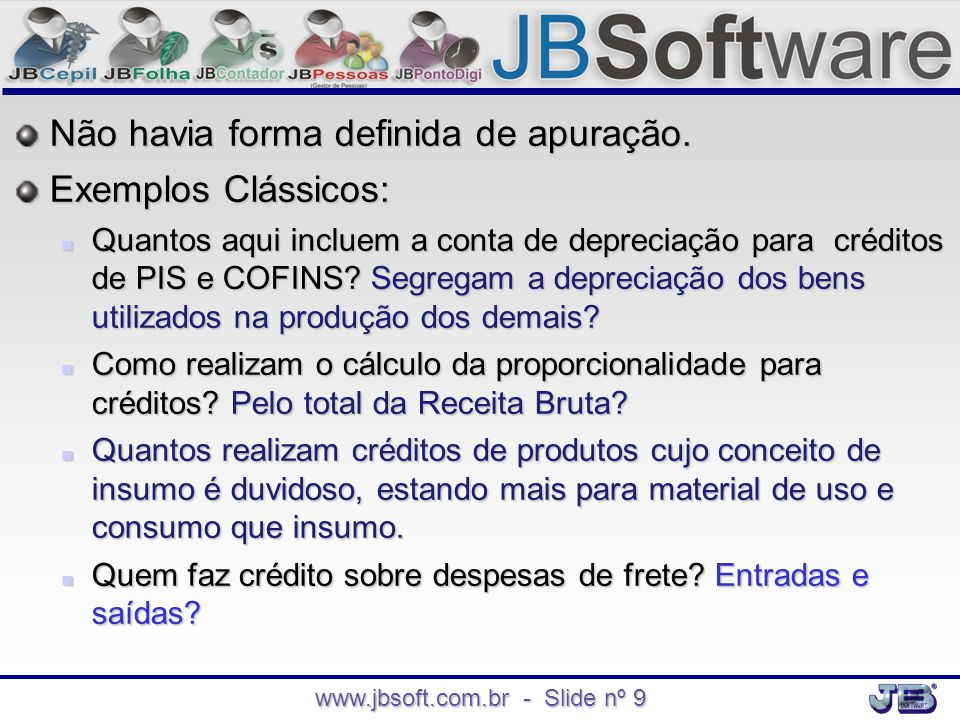 www.jbsoft.com.br - Slide nº 9