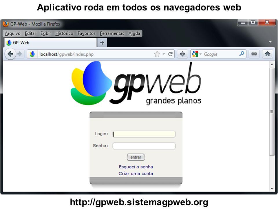 Aplicativo roda em todos os navegadores web