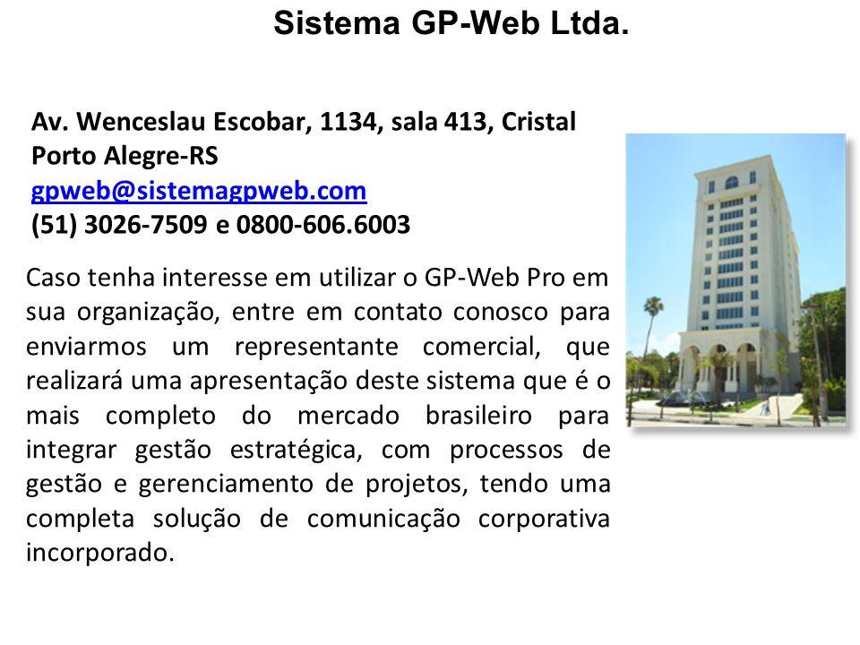 Sistema GP-Web Ltda. Av. Wenceslau Escobar, 1134, sala 413, Cristal
