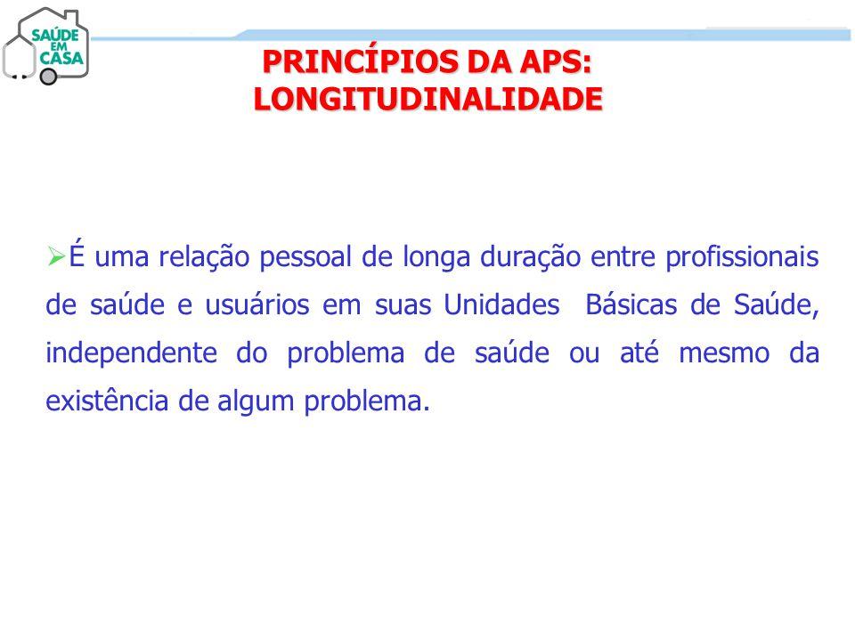 PRINCÍPIOS DA APS: LONGITUDINALIDADE