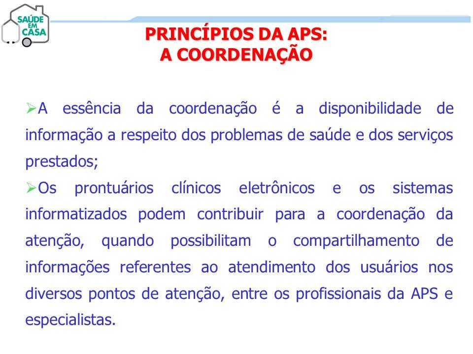 PRINCÍPIOS DA APS: A COORDENAÇÃO