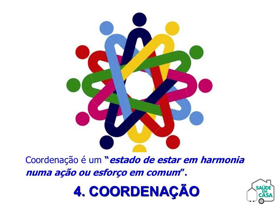 Coordenação é um estado de estar em harmonia numa ação ou esforço em comum .