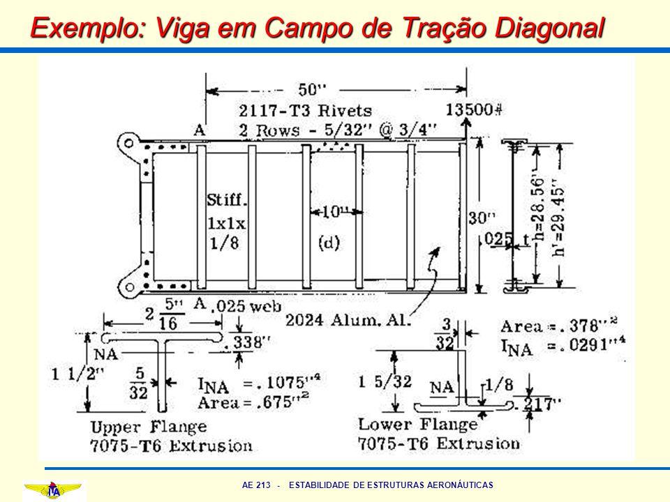Exemplo: Viga em Campo de Tração Diagonal
