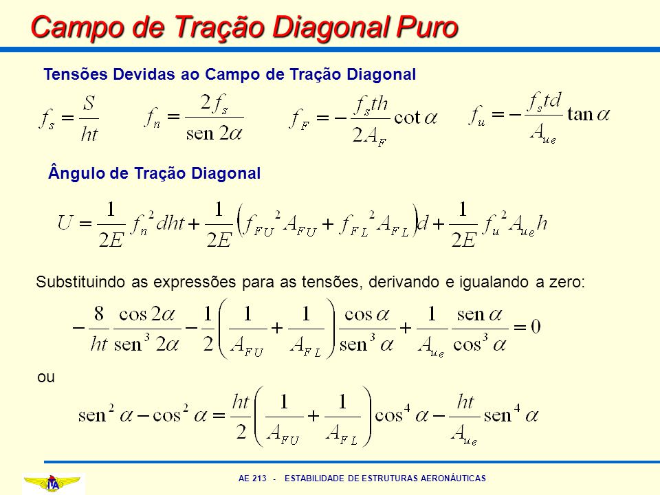 Campo de Tração Diagonal Puro