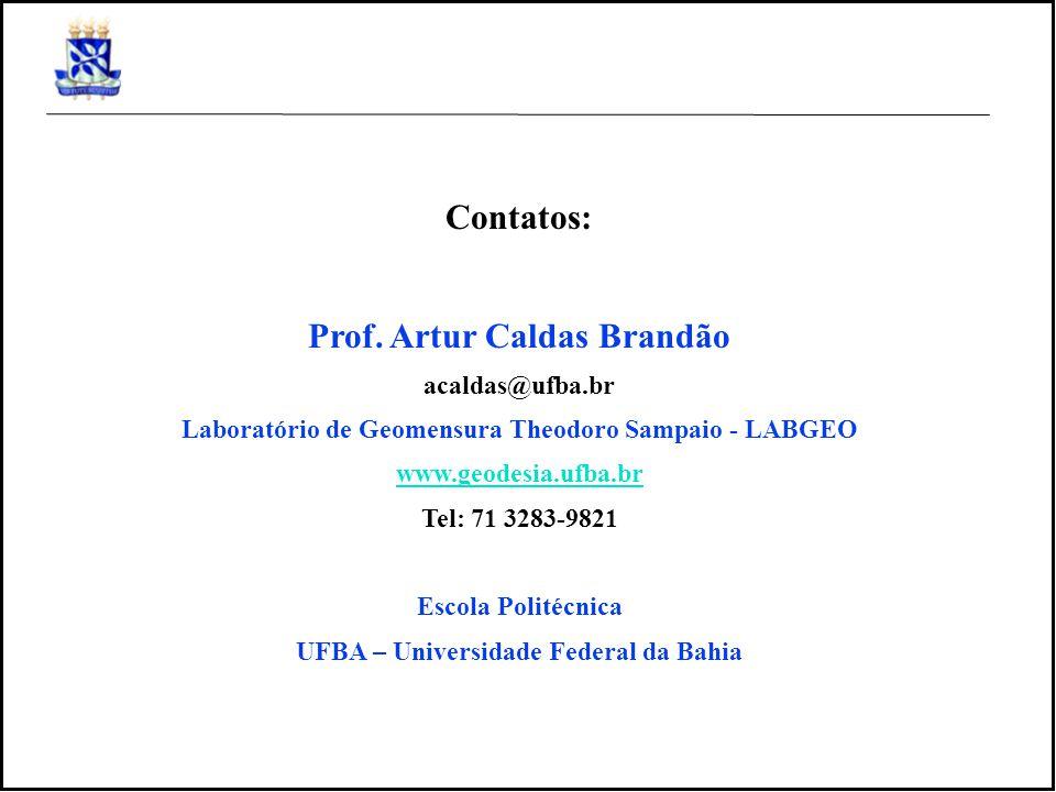 Contatos: Prof. Artur Caldas Brandão