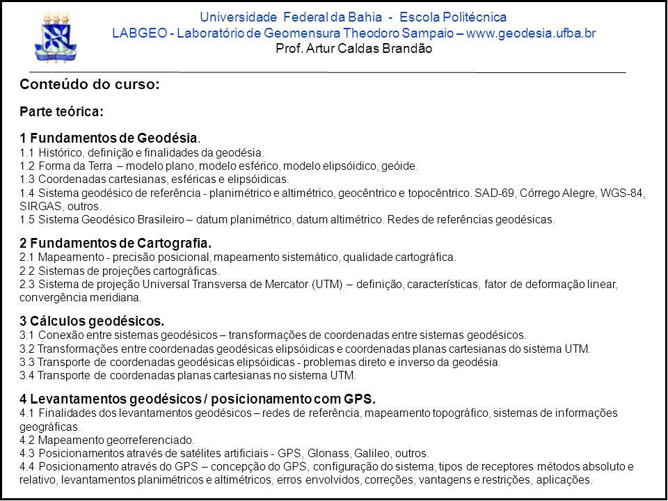 Conteúdo do curso: Universidade Federal da Bahia - Escola Politécnica