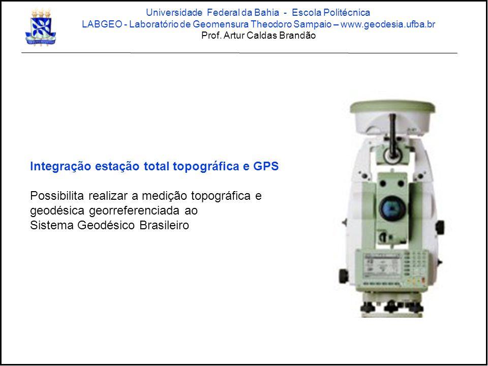 Integração estação total topográfica e GPS