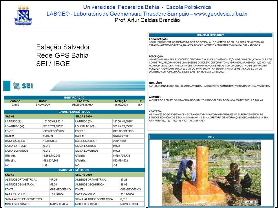 Estação Salvador Rede GPS Bahia SEI / IBGE