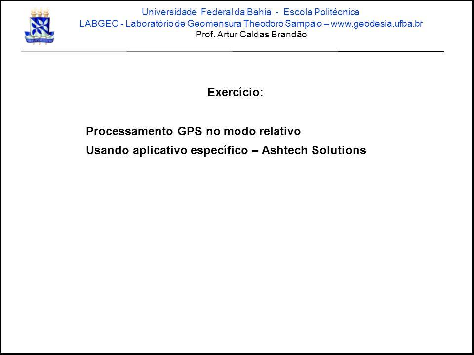 Processamento GPS no modo relativo
