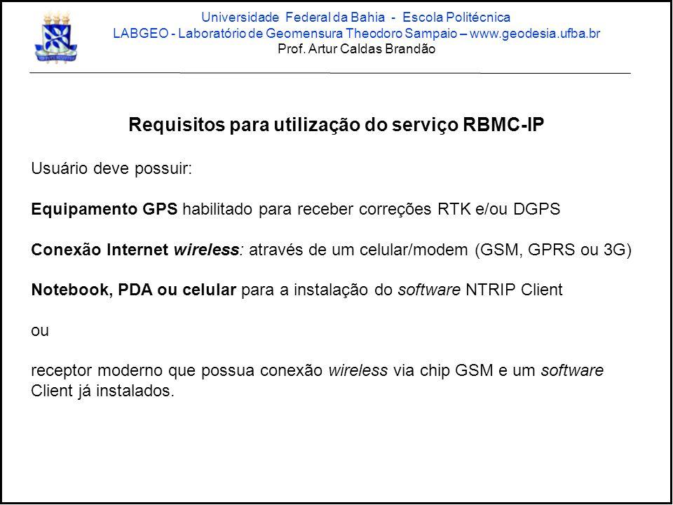 Requisitos para utilização do serviço RBMC-IP