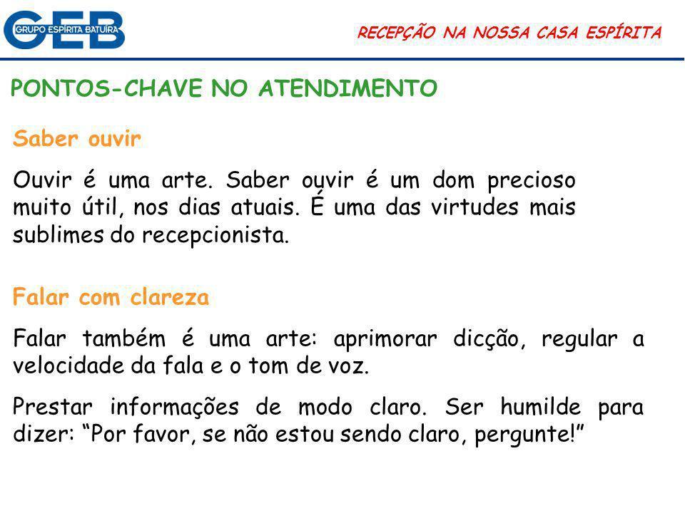 PONTOS-CHAVE NO ATENDIMENTO
