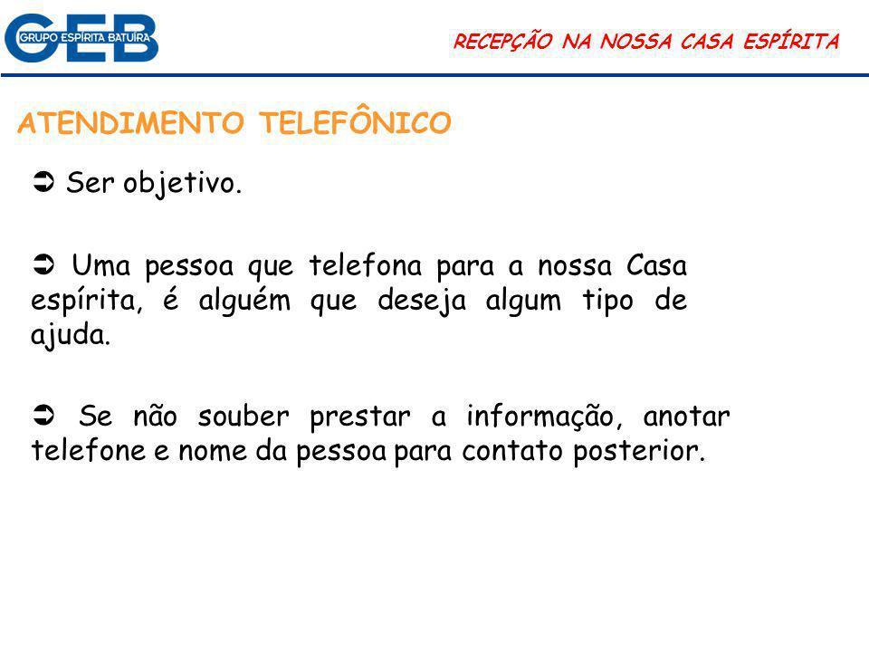 ATENDIMENTO TELEFÔNICO