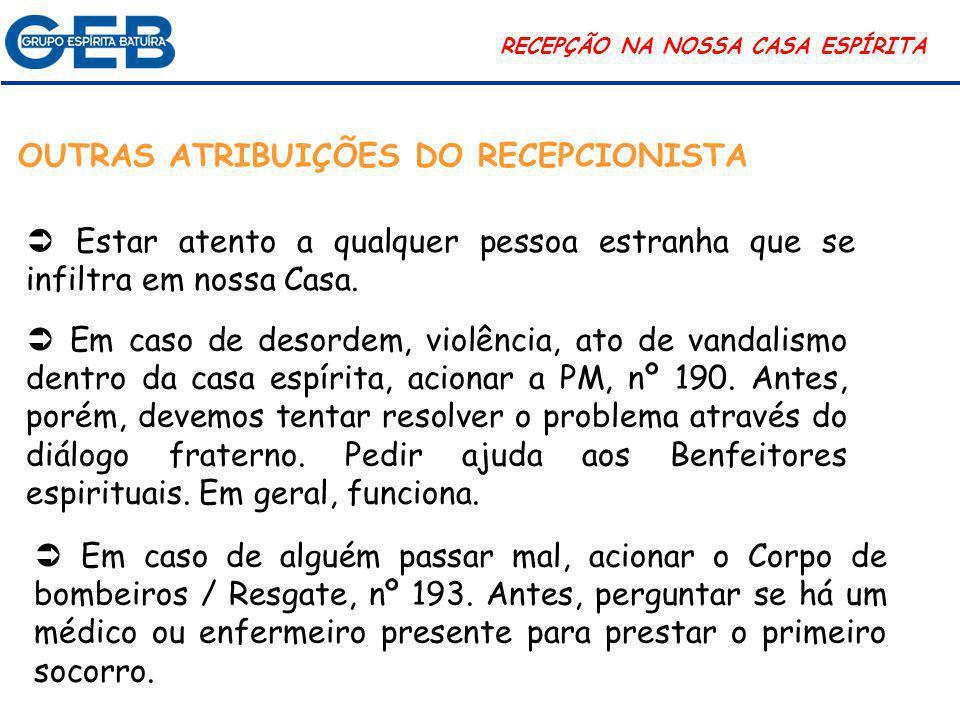 OUTRAS ATRIBUIÇÕES DO RECEPCIONISTA