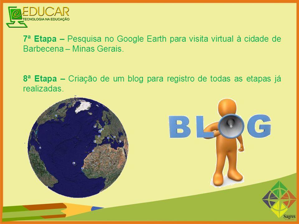 7ª Etapa – Pesquisa no Google Earth para visita virtual à cidade de Barbecena – Minas Gerais.