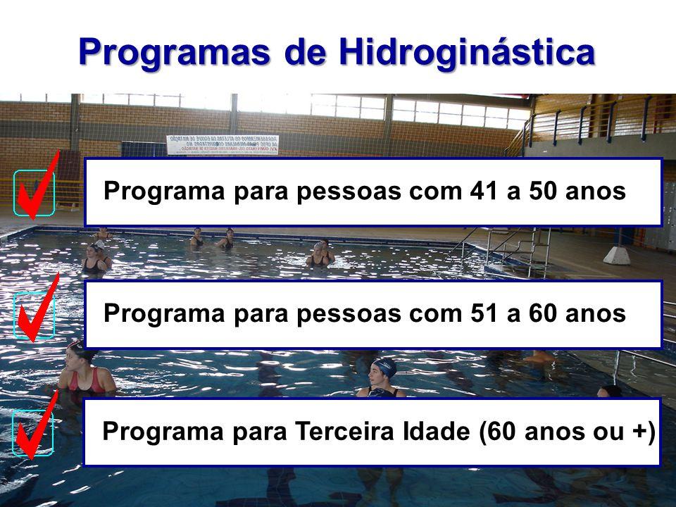 Programas de Hidroginástica