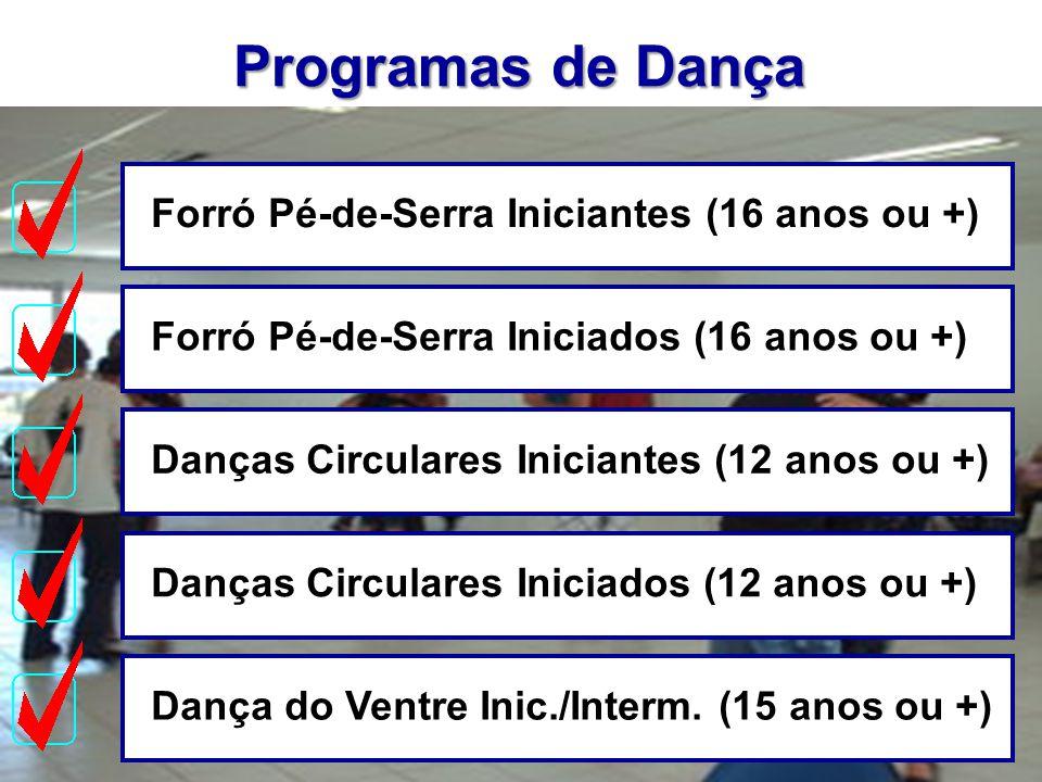 Programas de Dança Forró Pé-de-Serra Iniciantes (16 anos ou +)