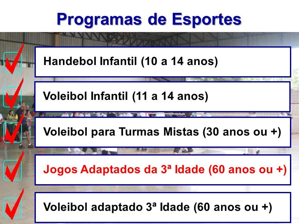 Programas de Esportes Handebol Infantil (10 a 14 anos)