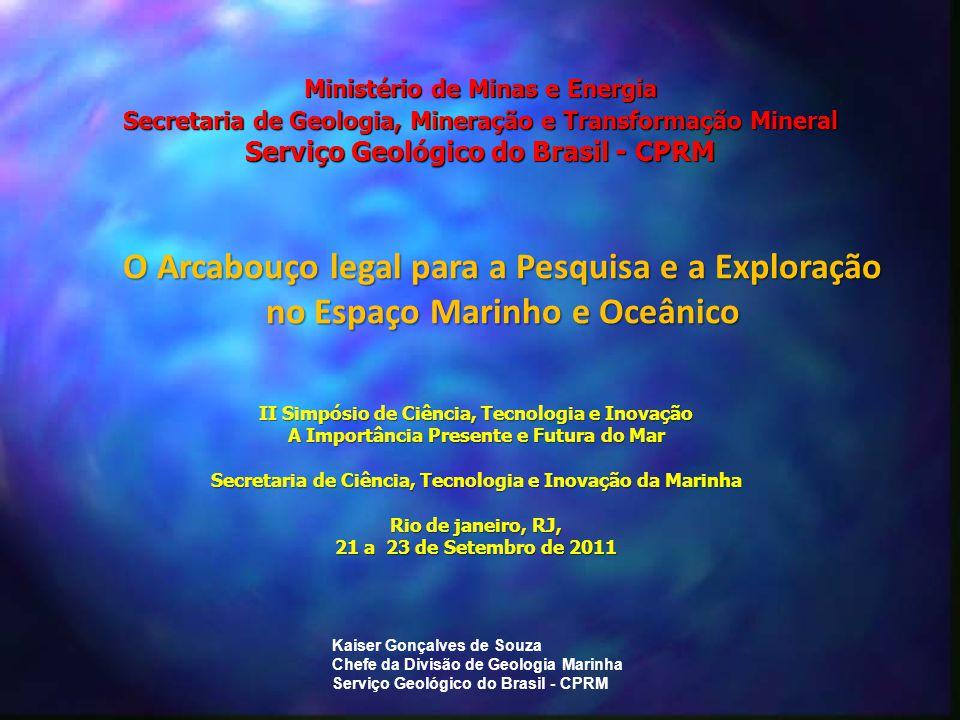 4/2/2017 Ministério de Minas e Energia Secretaria de Geologia, Mineração e Transformação Mineral Serviço Geológico do Brasil - CPRM.