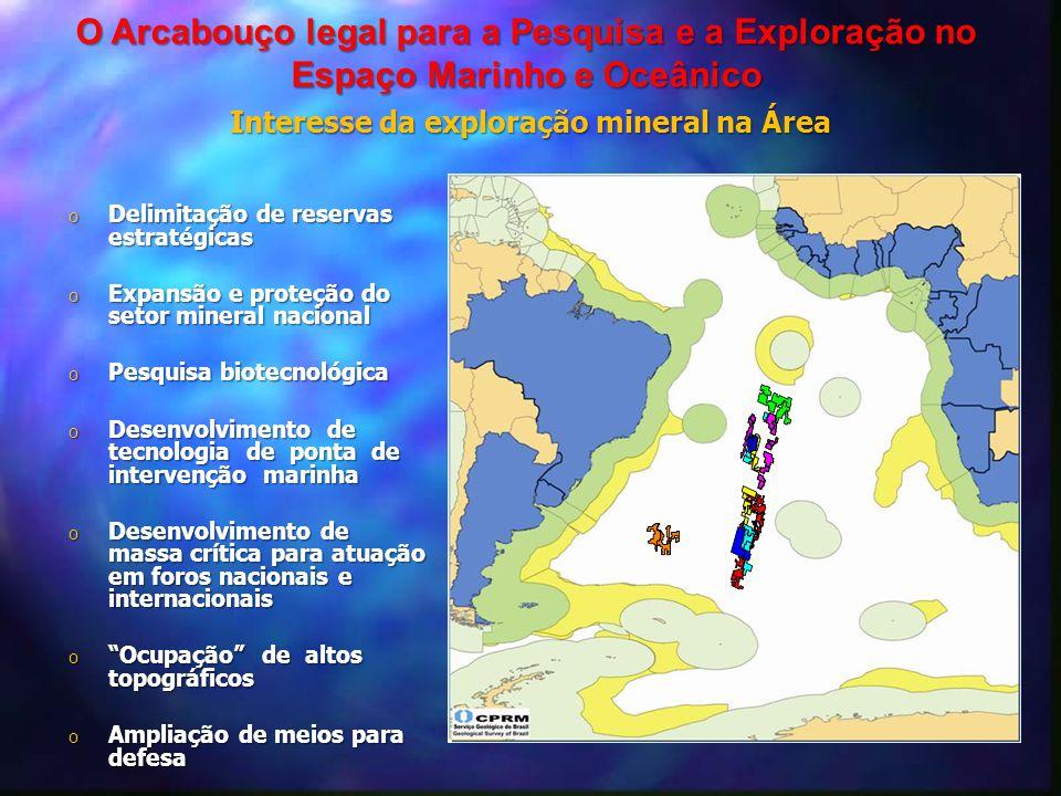 Interesse da exploração mineral na Área