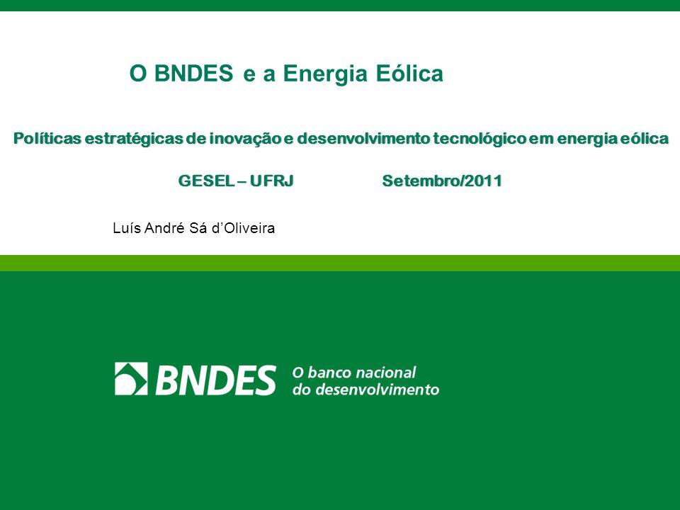 O BNDES e a Energia Eólica