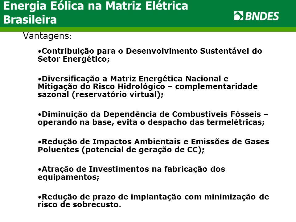 Energia Eólica na Matriz Elétrica Brasileira