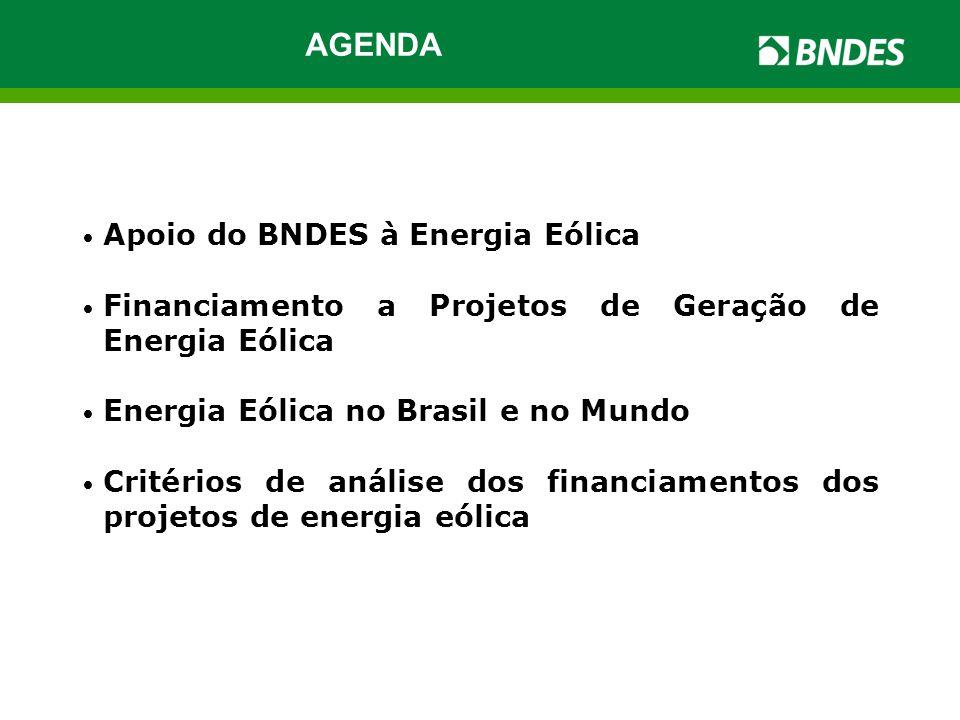 AGENDA Apoio do BNDES à Energia Eólica