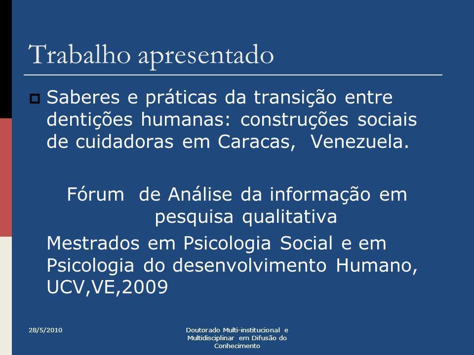 Fórum de Análise da informação em pesquisa qualitativa