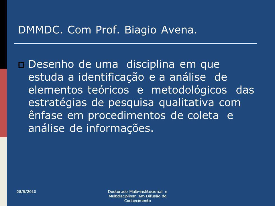 DMMDC. Com Prof. Biagio Avena.