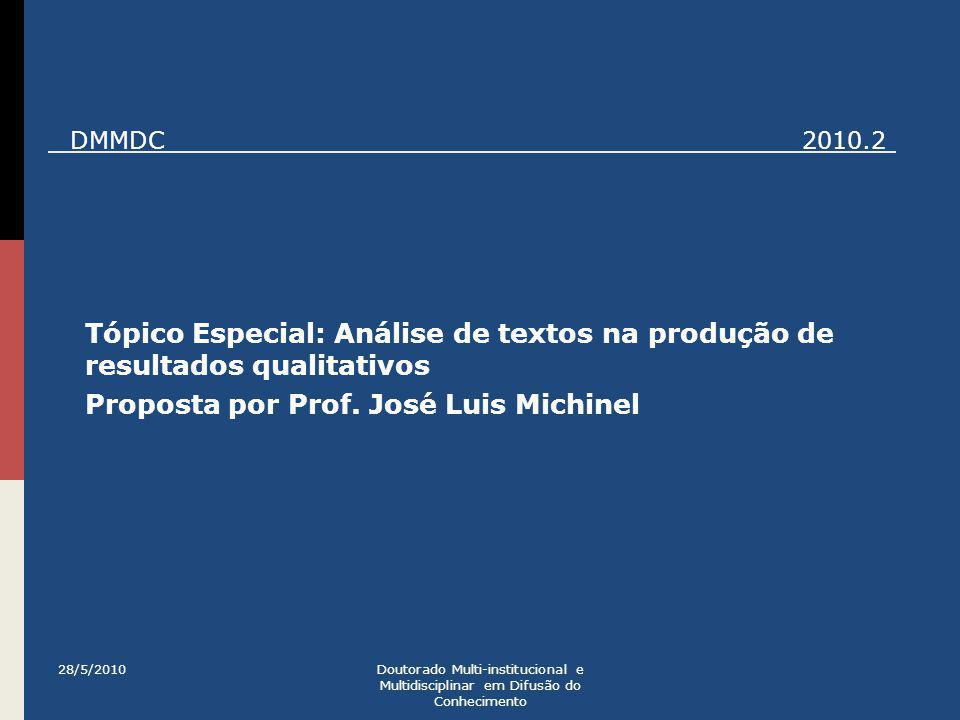 Proposta por Prof. José Luis Michinel