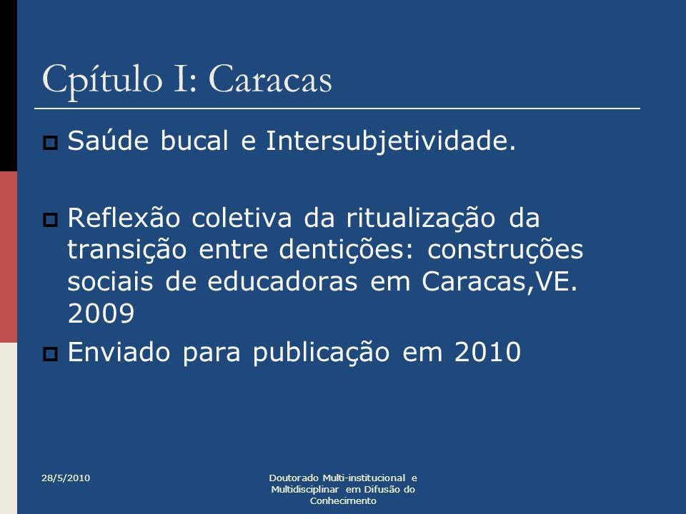 Cpítulo I: Caracas Saúde bucal e Intersubjetividade.