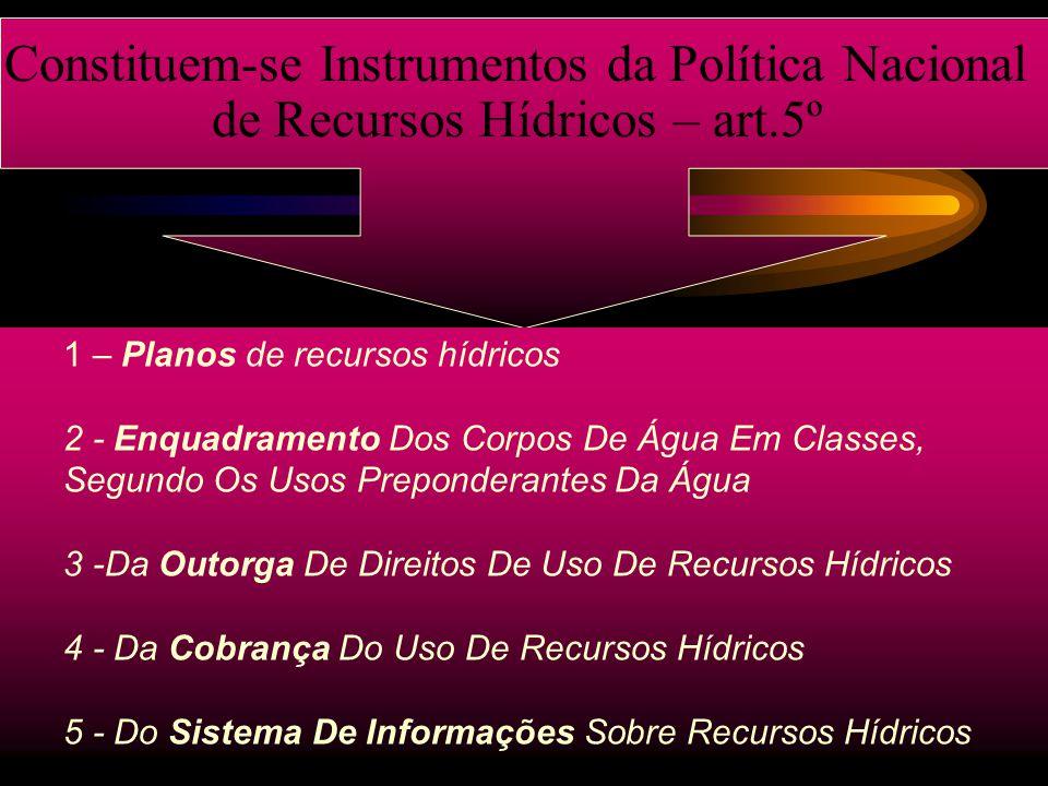 Constituem-se Instrumentos da Política Nacional