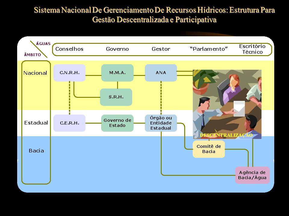 Sistema Nacional De Gerenciamento De Recursos Hídricos: Estrutura Para Gestão Descentralizada e Participativa