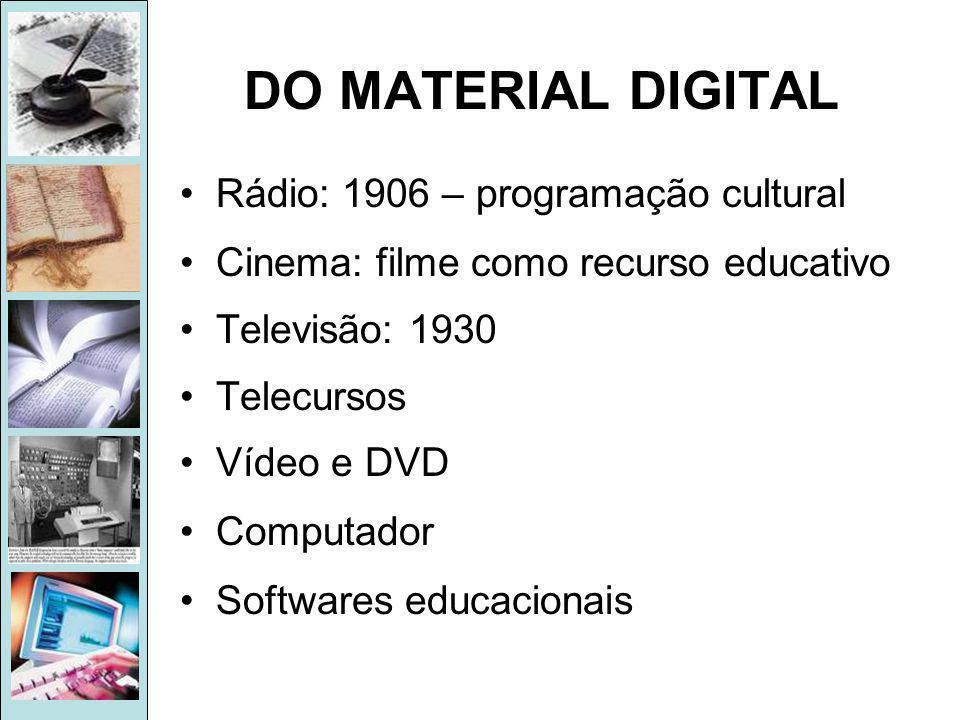 DO MATERIAL DIGITAL Rádio: 1906 – programação cultural