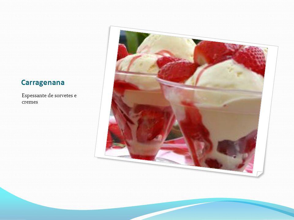 Carragenana Espessante de sorvetes e cremes