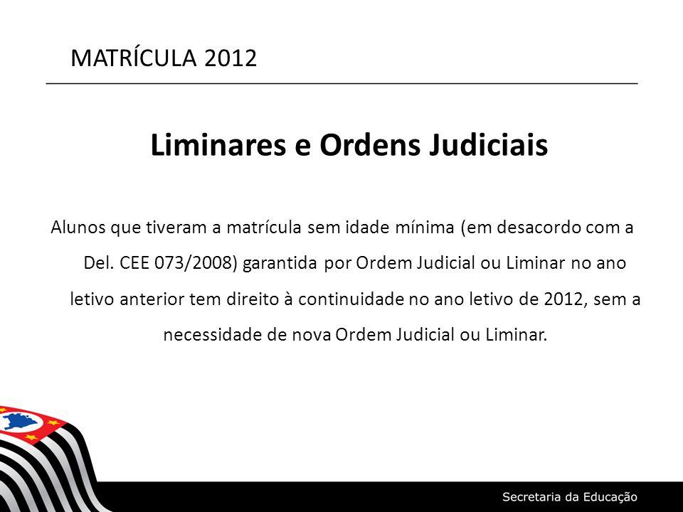 Liminares e Ordens Judiciais