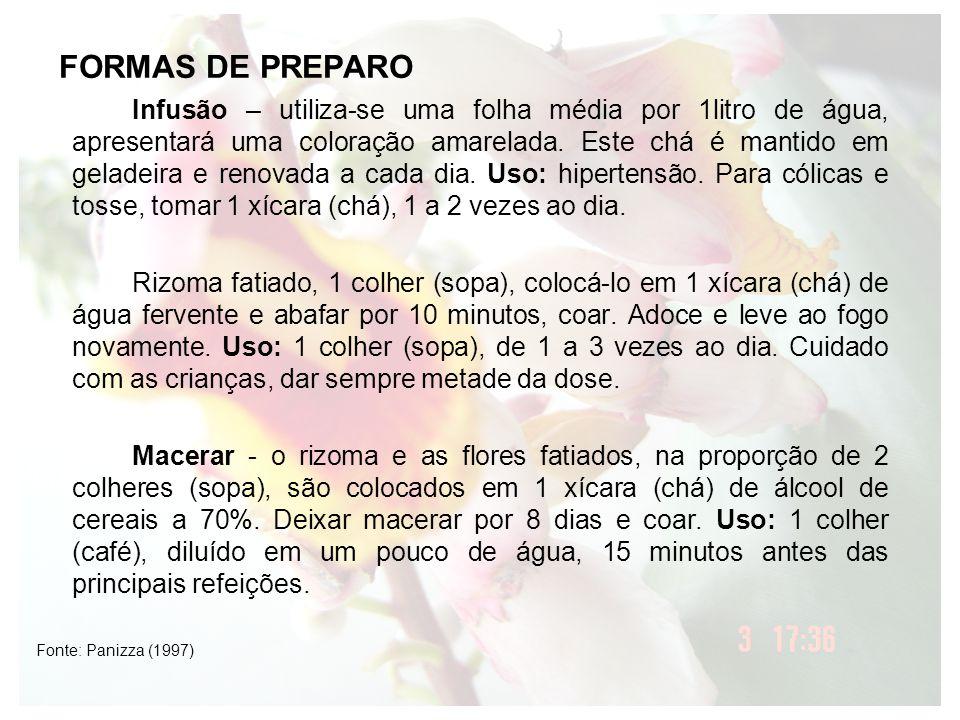 FORMAS DE PREPARO