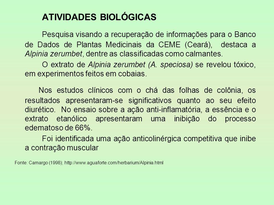 ATIVIDADES BIOLÓGICAS