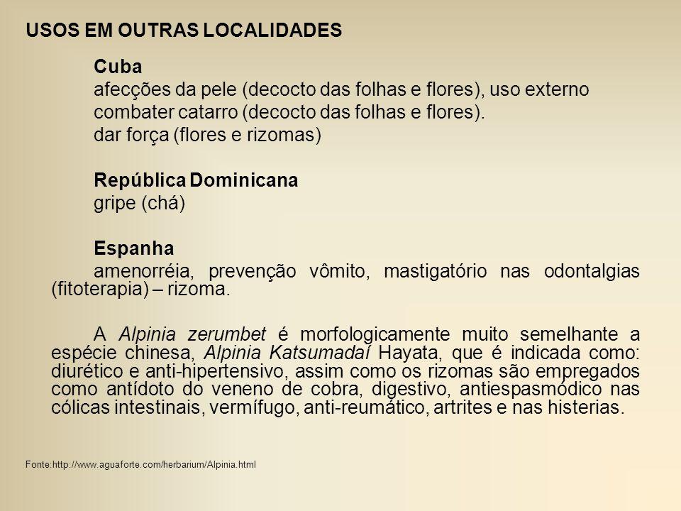 USOS EM OUTRAS LOCALIDADES
