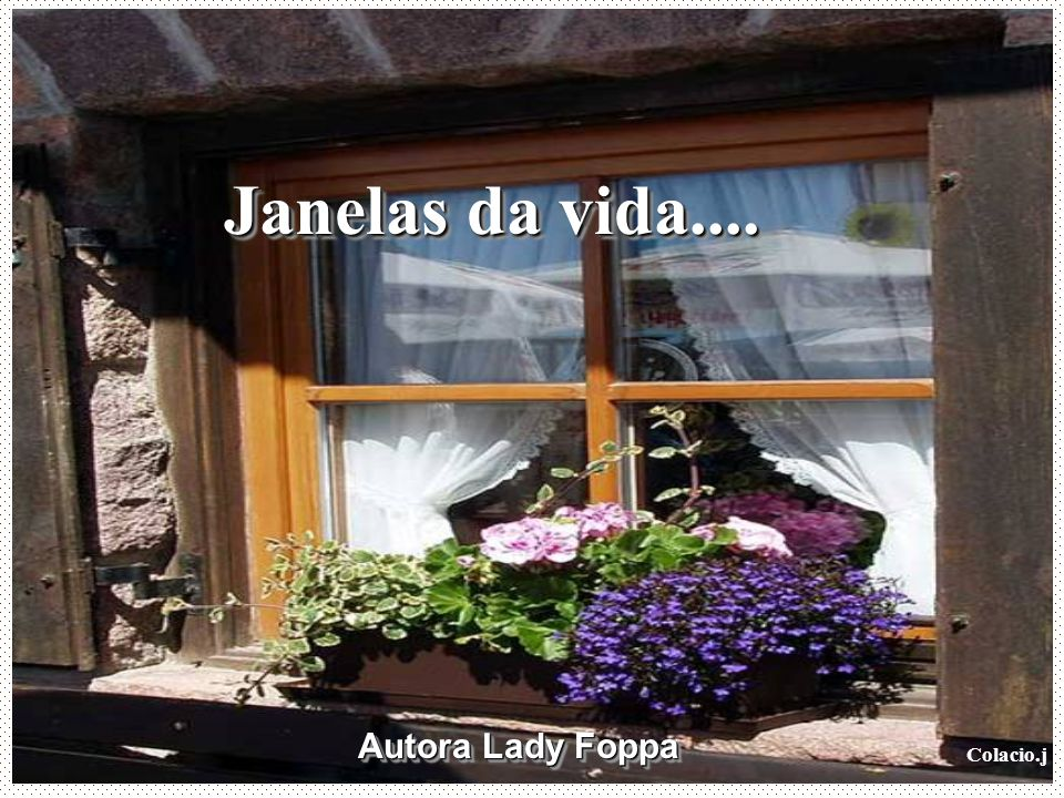 Janelas da vida.... Autora Lady Foppa