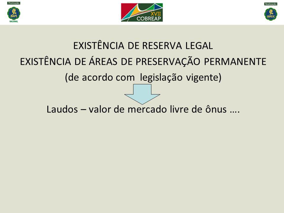 EXISTÊNCIA DE RESERVA LEGAL
