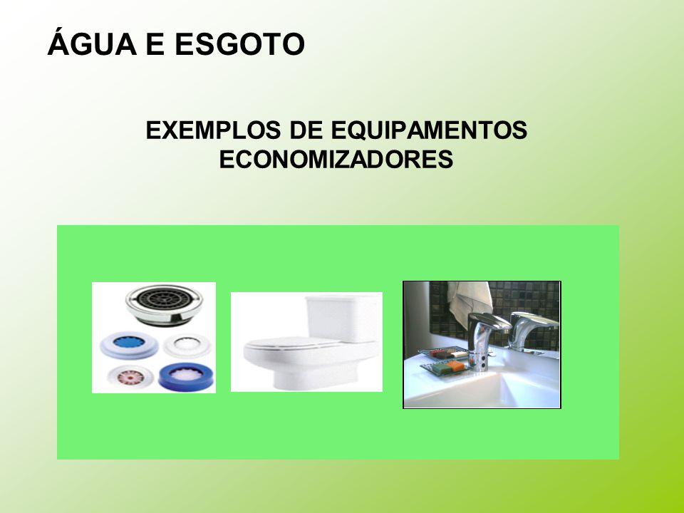 EXEMPLOS DE EQUIPAMENTOS ECONOMIZADORES