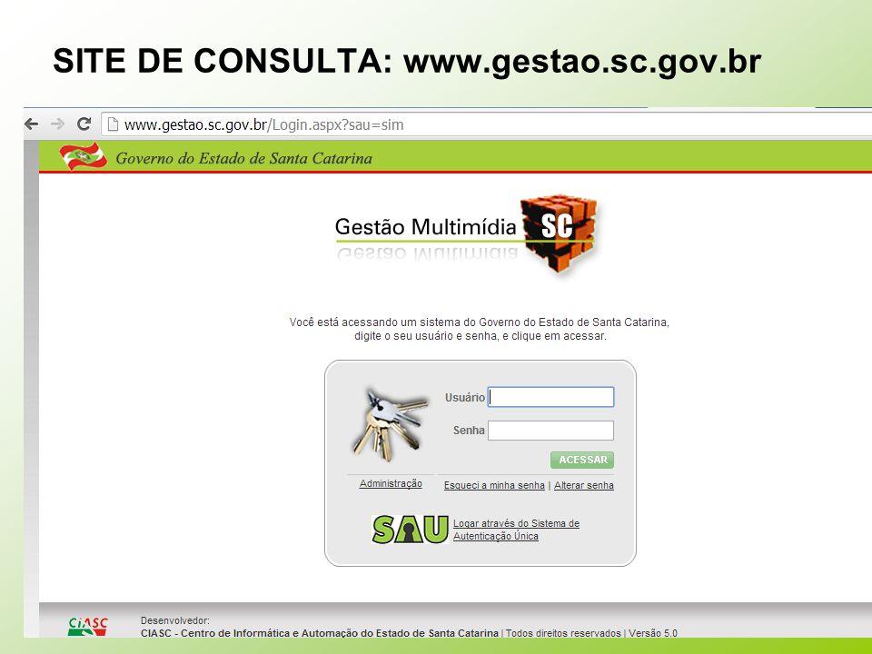 SITE DE CONSULTA: www.gestao.sc.gov.br